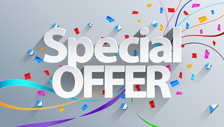 Special offer text on white background